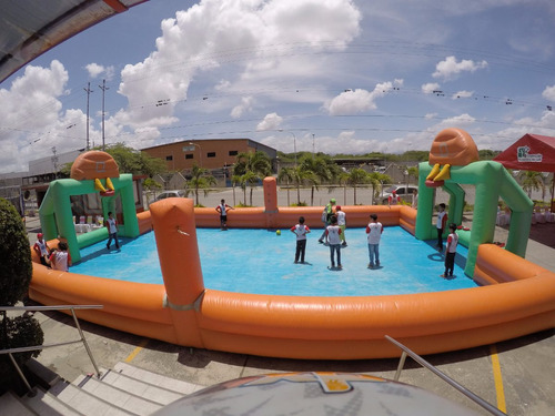 toro mecanico - water ball piscina inflable acuatico canchas
