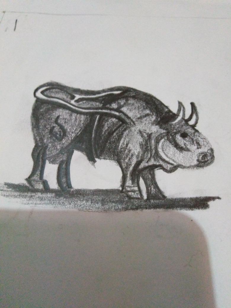 Toros Cuadro A Lápiz Dibujo A Lapiz 79900 En Mercado Libre