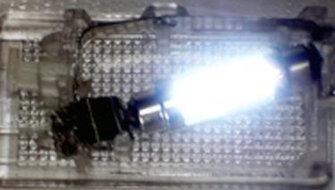 torpedo de 4 led super br para luz cortesia e placa traseira
