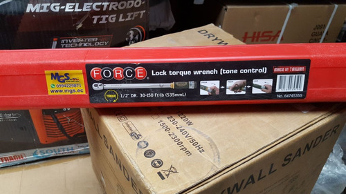 torquimetro 30-150 lbs-pulg mando 12 marca force