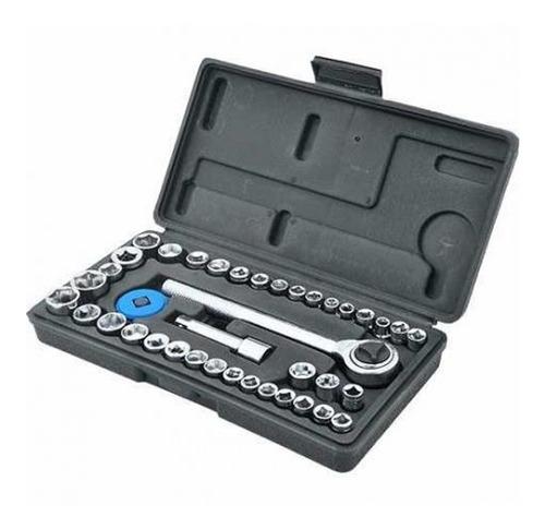 torquimetro de estalo, 42-210 crv mtx + 40 peças + chave imp