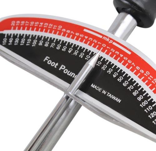 torquímetro de vareta 3/8 e 1/2 0 á 150 libras profissional
