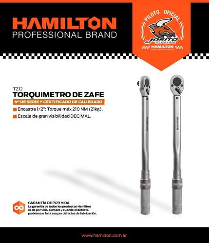 torquimetro safe 1/2 profesional hamilton 210 nm zafe
