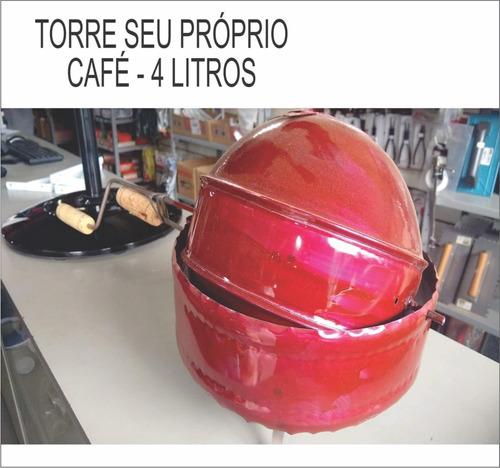 torrador de café manual antigo 4 litros - torra artesanal