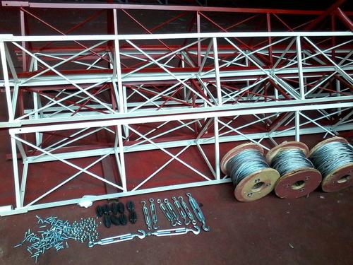 torre antena telecomunucação estaio pronta entrega por mt