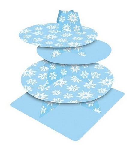 torre base cupcakes wilton pastelería nieve navidad