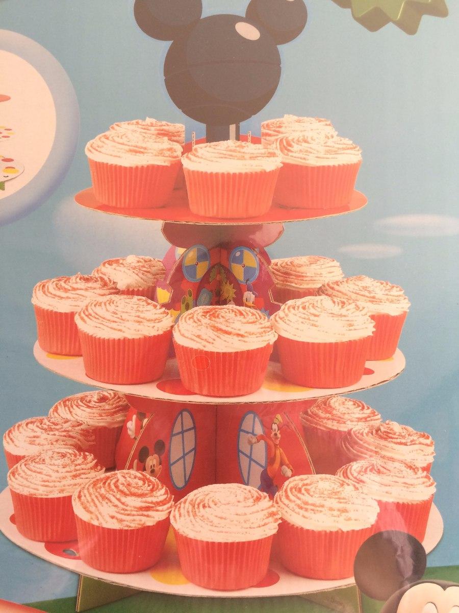 Torre base y moldes para cupcakes mickey mouse - Bases para cupcakes ...
