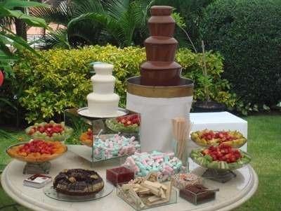 torre cascata de chocolate 3 andares fonte inox 110v ou 220v