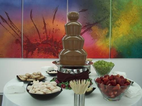 torre cascata de chocolate luxor - 3 andares - fonte - 110v