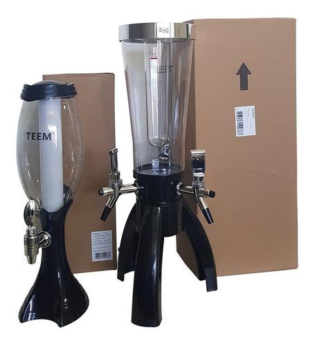 torre chopp chopeira bar 3 litros 2 refis de gelo