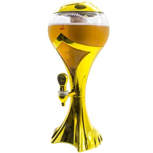 torre chopp resfriador iluminada conserva a cerveja gelada