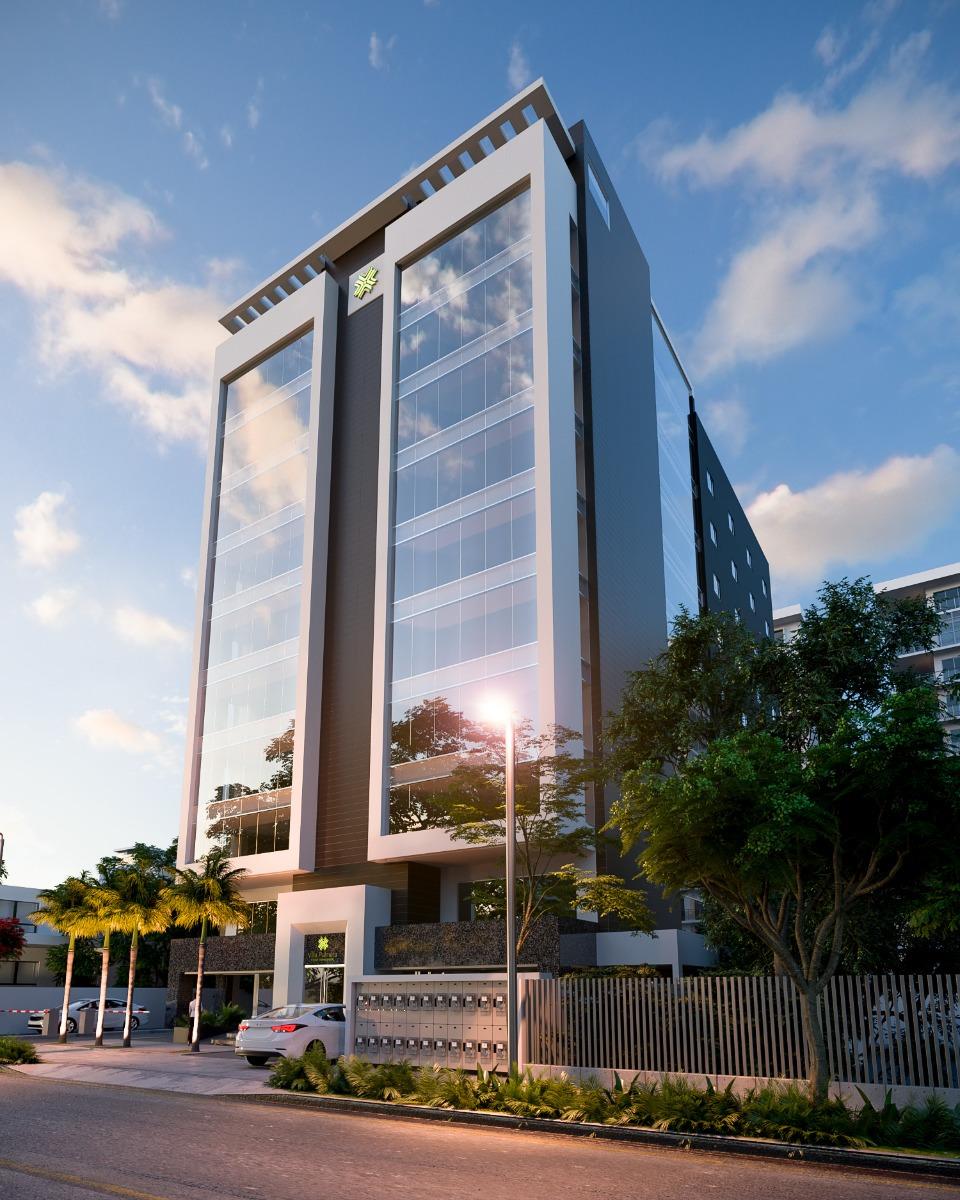 torre corporativa  ubicada en el centro del área de negocios de santo domingo