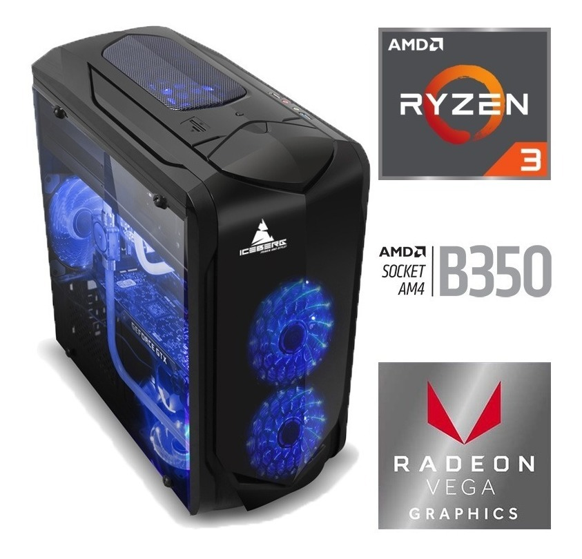 Torre Cpu Gamer Amd Ryzen 3 2200g Radeon Vega 8 1tb 8gb Pc