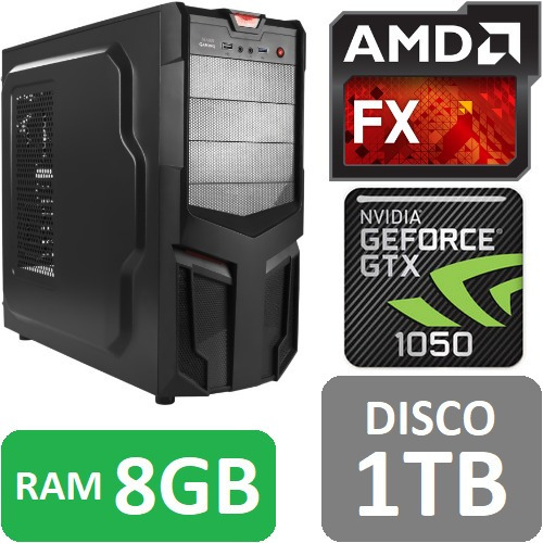 torre cpu gamer fx 4300 gtx1050 1tb ram 8gb pc wifi gratis