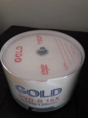 torre de 50 discos dvd-r 16x 4,7gb/120 mins marca gold