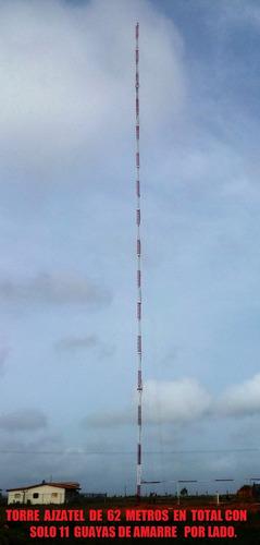 torre de 60 metros aluminio super reforzada, torre para wifi