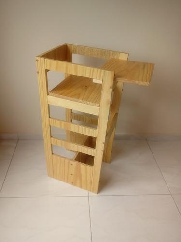 torre de aprendizagem 4 em 1  madeira