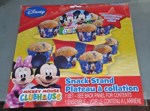 torre de bandejas para cupcakes de mickey mouse clubhouse