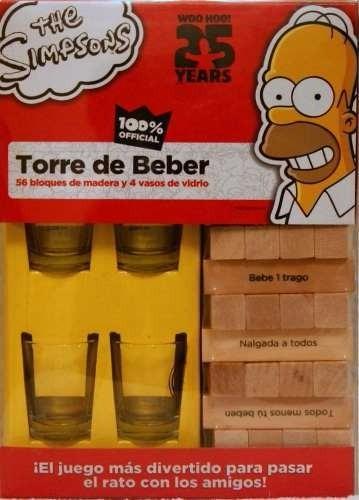 Torre De Beber Jenga De Homero Simpson Juegos De Mesa 499 00 En