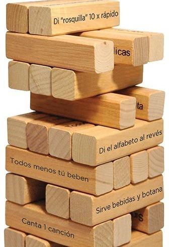 Torre De Beber Jenga Extremo Juego De Mesa Retos Adultos 480 00