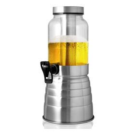 Torre De Chopp Escovada Chopeira Cervejeira Vidro 2.2 Litros