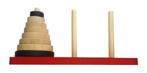 torre de hanoi juguetes de madera didácticos mayoristas