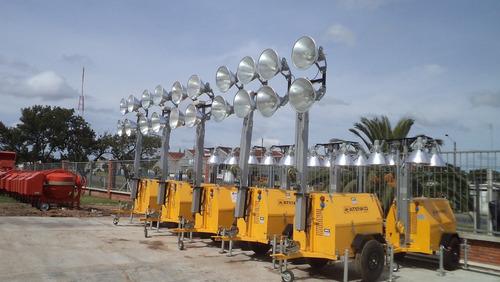 torre de iluminación 4 focos de 1000w