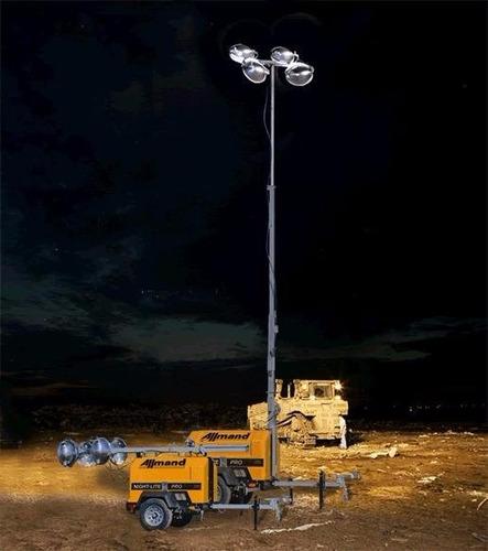 torre de iluminación, generador con torre de iluminacion