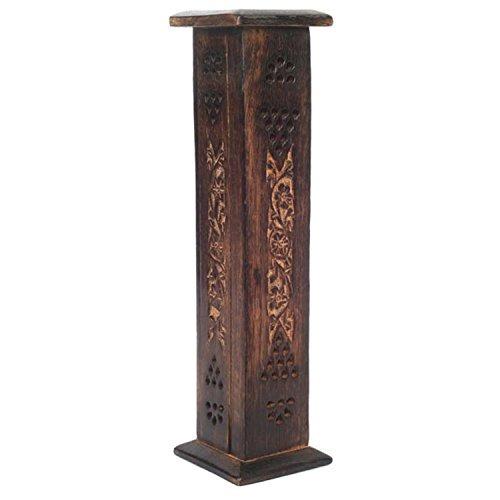 torre de incienso de madera de hosley con 20 palillos de in