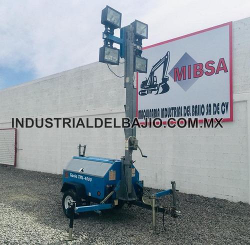 torre de luz generador de luz planta de luz remolque
