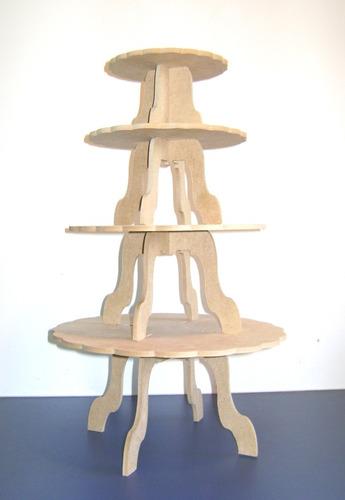 torre de sousplast, cupcake, baleiro, em mdf cru, festas