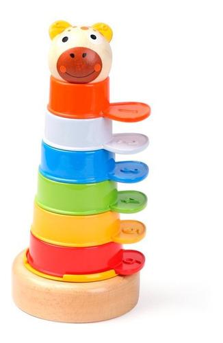 torre didactica de colores para apilar top bright 2 en 1