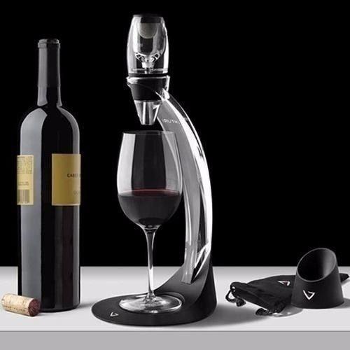 torre e aerador de vinho tinto vinturi deluxe base decanter