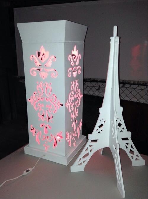 Torre eifel mdf centro de mesa decoracion xv 15 a os boda en mercado libre - Cuanto cuesta cristal para mesa ...