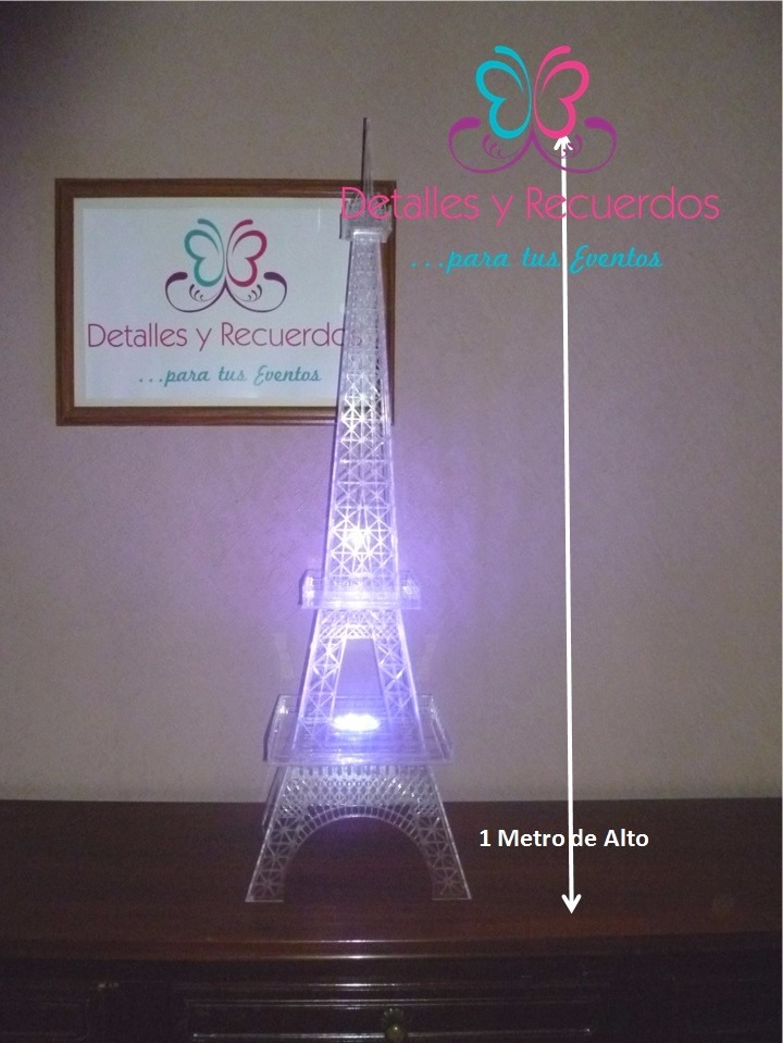 Torre Eiffel De 1mt Acrílico Para Centro De Mesa