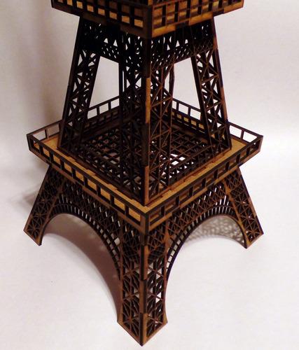 torre eiffel de 73 cm ¡de altura! mdf madera rompecabezas 3d