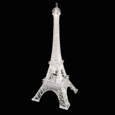 torre eiffel em acrilico com led miniatura - 26 cm cores