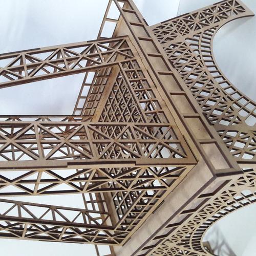 torre eiffel em mdf - 1,60 metros altura