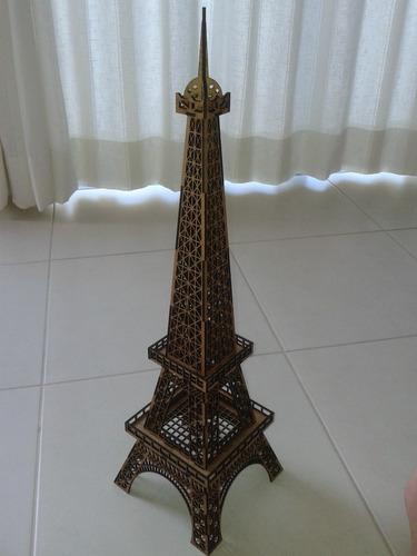 torre eiffel em mdf 3mm, 80cm altura para montar