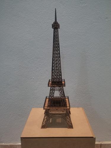 torre eiffel miniatura 70cm mdf crú