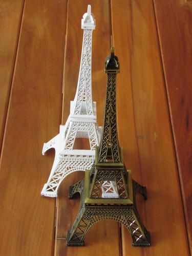 torre eiffel paris miniatura metal decor retro bronze 32cm