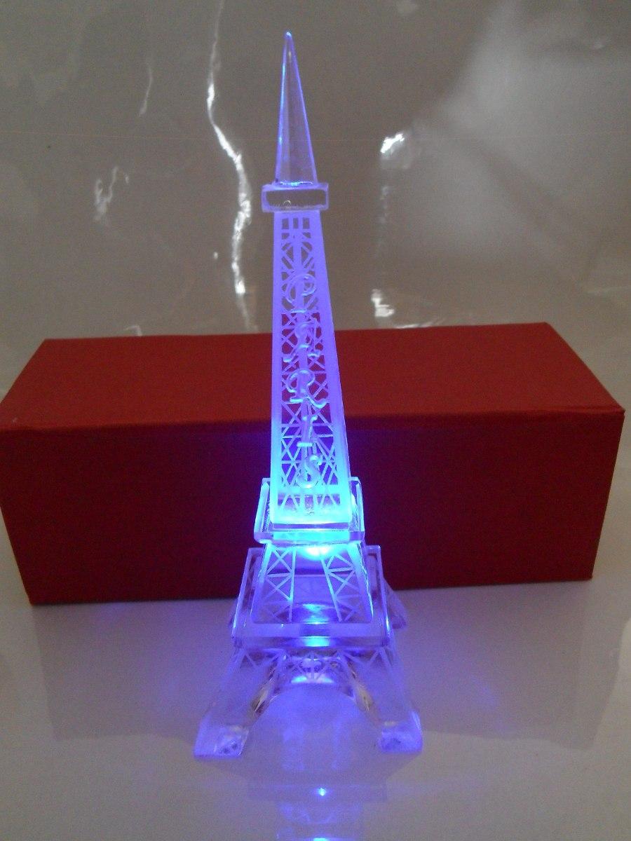 Torre eiffel vidrio con luz 19 5 cm grabado paris for Paris libre