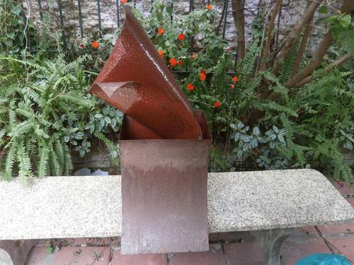torre en llamas obra de hierro (artesanía) 60x36x86 d/alt 6k
