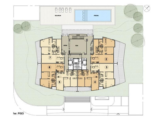 torre esmeralda, unidad central al frente, 2 dormitorios, 2 baños, garage en sub suelo