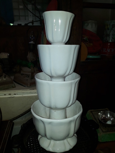 torre estilo cascata porcelana antigo