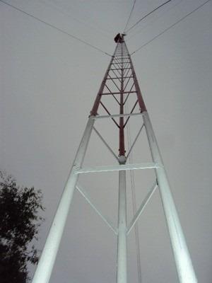 torre galvanizado para antenas de telecomunicaciones