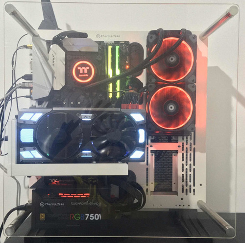 torre gamer i7 8700k 16gb gskill evga gtx 1080 (todo rgb)