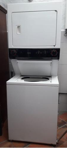 torre lavadora /secadora general electric. cap 28 lb
