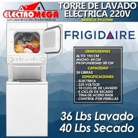Torre Lavadora Y Secadora Frigidaire 17kg Electrica 220v