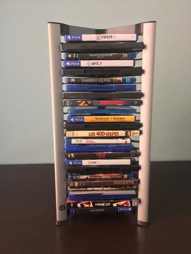torre organizadora para películas (dvd, blu ray)